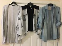 Women's tops, shorts, cardigans and shoes. Size 10-14 and size 6 (shoe)