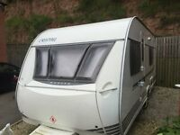 Cristall Moorea 530 EB 4 Berth 2007 Caravan Seperate shower Fixed Bed