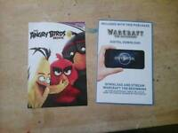 Bundle 2 uv codes warcraft and the angry birds movie