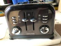 Murphy Richards Accents metallic black toaster, collect Hucclecote