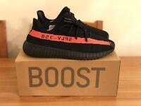 Adidas Yeezy V2 SPLY Boost Black/Red UK 3.5 - UK 12.5