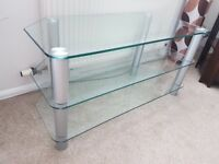 TV / HI-FI glass, corner stand