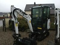 Bobcat e19 2015 new unused, hitachi tractor jcb