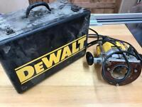 Dewalt router and Trend router table.