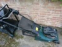 Halter petrol lawnmower