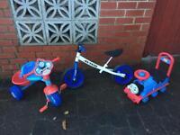 Children's outdoor bikes.