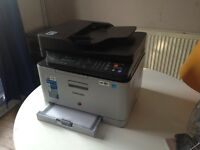 Samsung colour laser printer clx3305fw all in one wifi with toners ipad iPhone