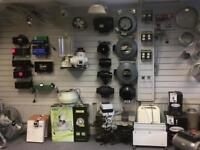 Hydroponics, New and used Growing Equipment, Ballasts,filters,Rvk,led lights,fan controller's