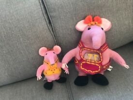 The clangers soft toys