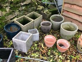 Job lot of Garden pots and planters