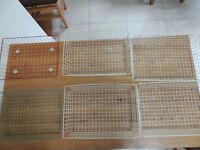 6 Vintage 1950s Industrial Wire Filing Trays / Racks