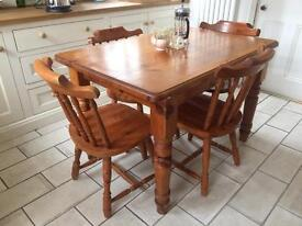 Solid pine dining table (delivery available) chairs not included