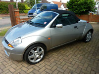 2005 FORD KA STREETKA LUXURY CABRIOLET 1.6 54000 MLS EXCELLENT CONDITION