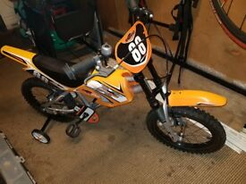 Boys or girls mxr 450 moto pedal bike. As new condition only ridden once. £55 no offers.