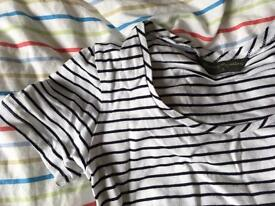 Mothercare maternity stripe top