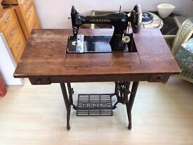 Singer treadle antique sewing machine - good working condition