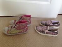 Girls shoes size 1 and 2