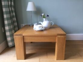 John lewis Solid Oak Chunky Square Cofee Table contemporary