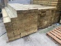 •New• Pressure Treated Wooden/ Timber Railway Sleepers - 190x90x2.4m
