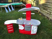 Kids Play Kitchen Plastic Indoor Outdoor