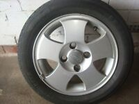 ford fiesta wheel and tyre 185 55 14