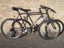 mens raleigh bike 21 gears, all works 26inch wheels