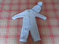 LARGE SELECTION OF LOVELY AND NEWLY HAND KNITTED BABY CLOTHES AND BLANKETS AVAILABLE NOW.