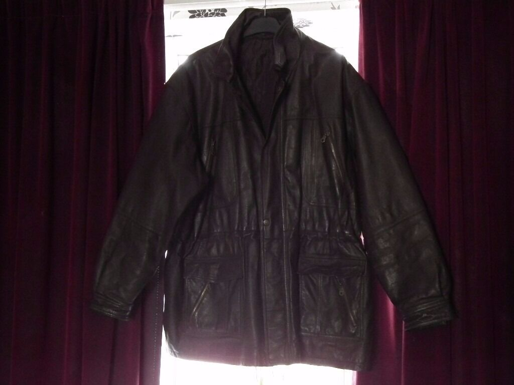 "Mens brown leather jacket 54in Grantham, LincolnshireGumtree - Mens brown leather jacket Excellent condition Perfect now the weathers getting colder ) 54"" chest (measures 27"" across the chest when laid flat) Which I think may be XXL Cost over £120, only selling due to weight loss Please ask if youd like more..."