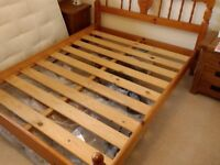 Solid Pine double bed with IKEA Sultan mattress