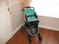 Mothercare pushchair and raincover