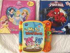Puzzels and vtech book