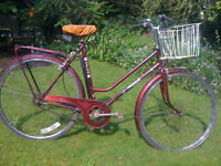 Ladies bicycle with 3 speed Sturmey Archer gears