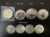 Silver Britannia, Chinese Panda, Maple Leaf, Kangaroo, many other 1oz silver coins and bullion