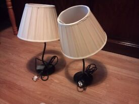 Victorian style pair of bed site lamp, LONDON SE8, £20