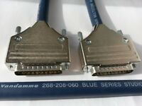 25 Pin D Sub to 25 Pin D Sub Cable. Serial Db 25 Van Damme cable,1m
