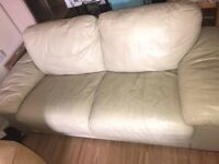 cream leather sofa £30