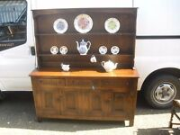Wonderful Large Oak Webber Of Croydon Plate Rack Sideboard Dresser Gothic