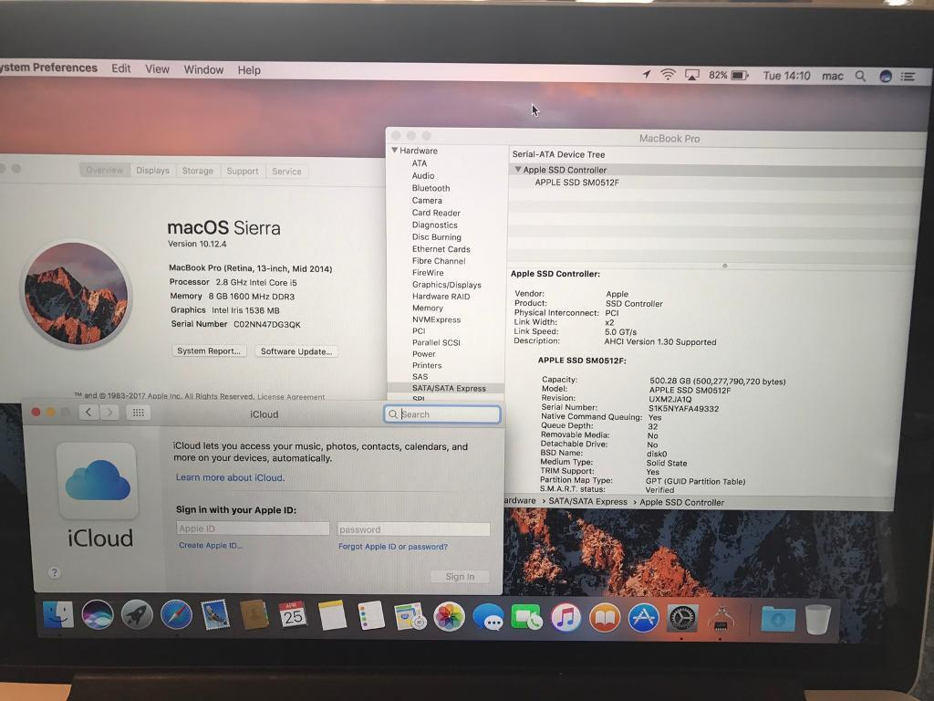 """Macbook Pro 13"""" Early 2015 2,7 8GB 128SSDin Thorne, South YorkshireGumtree - Macbook Pro 13"""" Early 2015 2,7 8GB 128SSDIn good condition,fine scratches and little marks.Apple MacBook Pro Retina 13.3"""" 2015 Model 128GB SSD 8GB Ram 2.7GHz The laptop is used but in good condition.The top lid had a sticker on it,when i removed..."""
