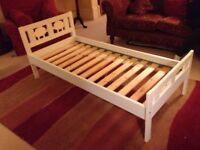 Ikea Kritter child/toddler bed frame with slatted base (no mattress)