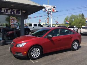 2011 Chevrolet Cruze $102 Bi-weekly!!! Great on fuel!!