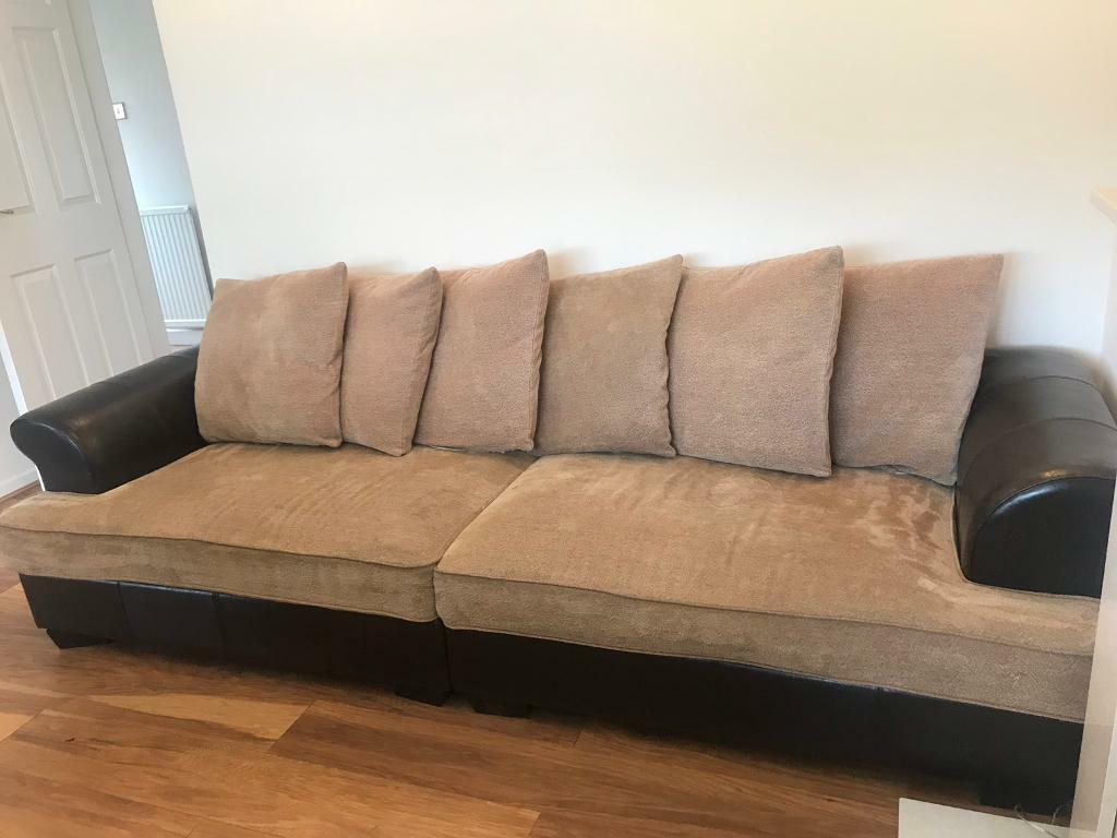Superb Faux Leather Sofa Free To Collect In Washington Tyne And Customarchery Wood Chair Design Ideas Customarcherynet