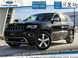 2016 Jeep Grand Cherokee OVERLAND**AWD*CUIR*TOIT*NAVI*CAMERA*BLU