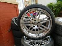 "Audi rs4 rs6 19"" alloy wheels 5x112"