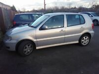 vw polo 1.4 in silver 4 door hatch automatic