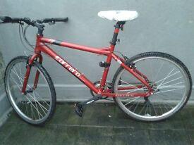 sell 2 bicycles in excellent condition red is new, 100 pounds/ white is 50 pounds