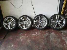 BMW F30 F31 F32 3 SERIES 4 SERIES GENUINE SET OF 442M ORBIT BMW ALLOY WHEELS WITH EAGLE F1 TYRES