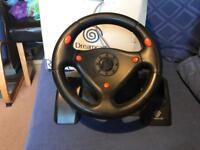 Sega dreamcast boxed steering wheel