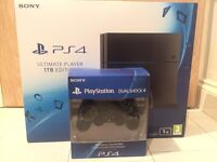 Sony PlayStation 4 latest model jet black console 1TB edition