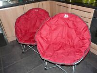 2 OFF EUROHIKE DELUXE MOON CHAIRS