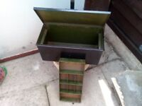 steel toolbox with tray lockable (heavy)